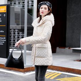 HRFS-WY60789新款时尚气质连帽轻薄款羽绒服外套TZF