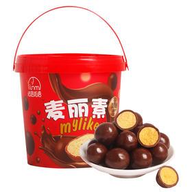 法思觅语麦丽素巧克力小零食糖果澳洲味桶装168g