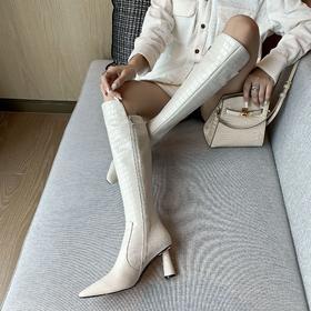 OLD005新款潮流时尚气质尖头高跟长筒靴TZF