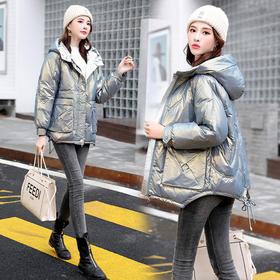 HRFS-WY60799新款韩版时尚气质宽松连帽白鸭绒羽绒服TZF