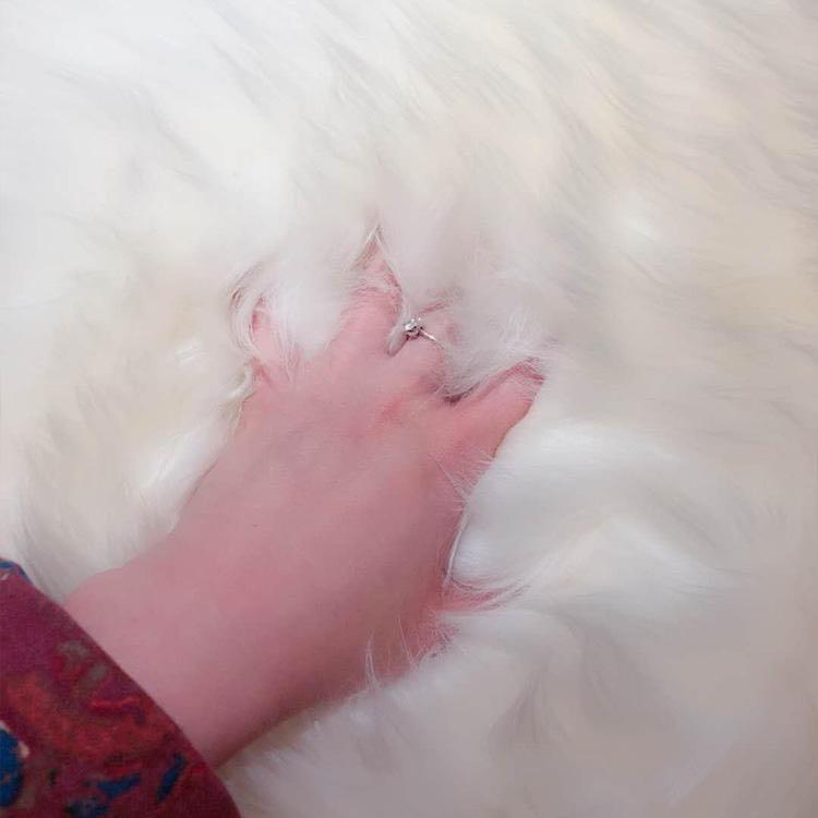 新疆手工小尾寒羊羊皮毯、羊毛皮褥 商品图3
