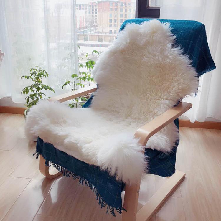 新疆手工小尾寒羊羊皮毯、羊毛皮褥 商品图1