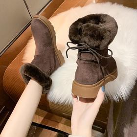 LN1991新款韩版时尚气质加绒加厚厚底马丁靴TZF