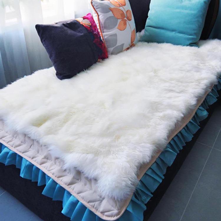 新疆手工小尾寒羊羊皮毯、羊毛皮褥 商品图2