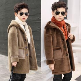 PDD-XXBTZ201028新款中大童潮流时尚洋气连帽水貂绒大衣外套TZF