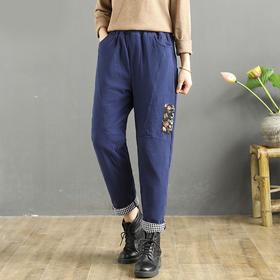 MQ1776-228新款时尚气质宽松加厚保暖哈伦棉裤TZF