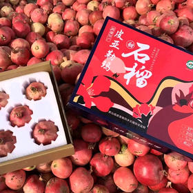 皮亚曼石榴礼盒 | 新疆皮亚勒玛甜石榴4.5-5斤顺丰航空包邮