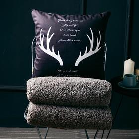 【为思礼】二合一  羊羔绒抱枕被 双面保暖,柔软舒适,居家、汽车、沙发抱枕,抱枕秒变加绒被子