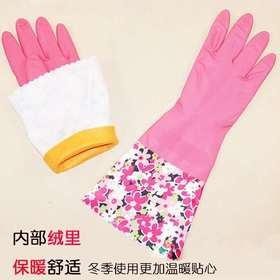 清清美印花加绒手套-059781
