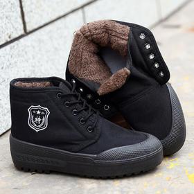 PDD-HLXY201028新款加绒保暖帆布迷彩防滑耐磨高帮劳保鞋TZF