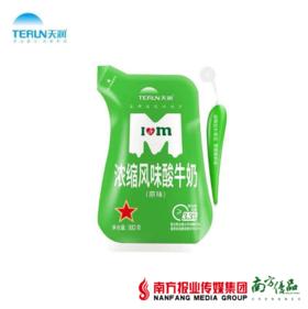 【珠三角包邮】天润浓缩风味酸牛奶(原味)180g*12袋/箱(10月31日到货)