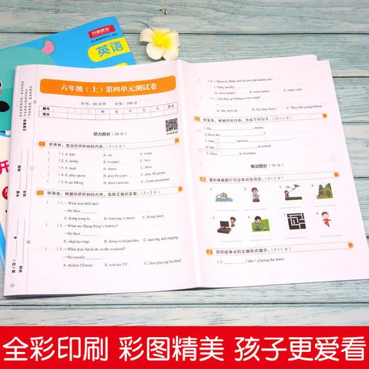 【开心图书】1-6年级上册语数英开心彩绘卷全系列 商品图7