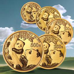 2021年熊猫金质纪念币