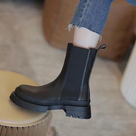 OLD-S563新款时尚英伦风厚底中筒马丁靴TZF