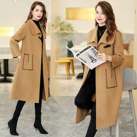 ASE5519新款时尚优雅气质百搭双面羊毛大衣外套TZF