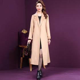WXY-TN-2017X新款时尚优雅气质西装领长袖双面羊毛大衣外套TZF