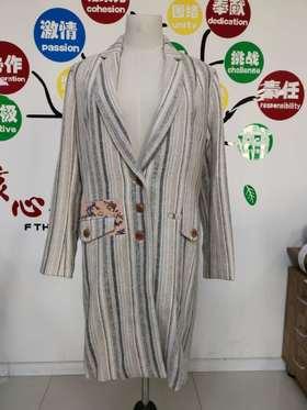 【清仓特价 不退不换】格子毛呢外套女2020年冬季中长新款收腰显瘦气质西装领大衣名媛风