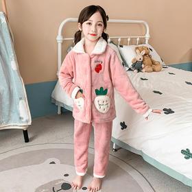XLR-QBX1028新款中大童冬季加厚保暖法兰绒家居服套装TZF