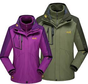 *户外冲锋衣三合一男两件套防风防水含可拆卸抓绒内胆保暖登山服 | 基础商品