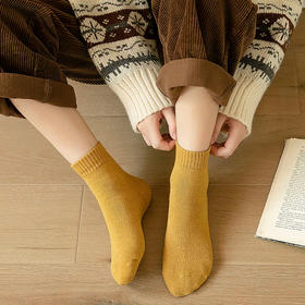 69元10双袜子【买二件立减20】丹拉迪保暖发热毛圈袜,加厚款,天猫品质拼多多价格,买了不后悔,穿上就不想脱! 时尚文艺风,保暖防臭又好看!