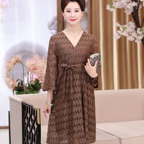 【清仓特价 不退不换】高贵夏装修身时尚连衣裙