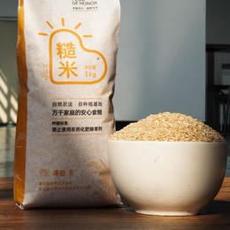 简箪 糙米 1kg  粳米糙米 可发芽  营养更全面 自然农法大米