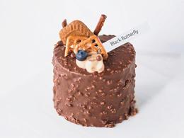 【双11秒杀加码】4英寸·黑巧梦龙蛋糕(配刀叉蜡烛生日帽)