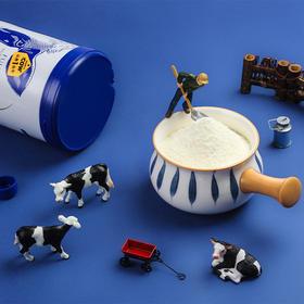 【荐】新品速抢认养一头牛全脂奶粉800g/罐成人中老年儿童学生高钙营养冲饮早餐
