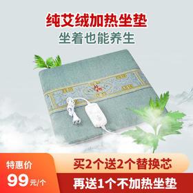 [优选]艾绒坐垫 艾草养生 坐垫加热 艾效直达 买两个送2个芯再送一个不加热款