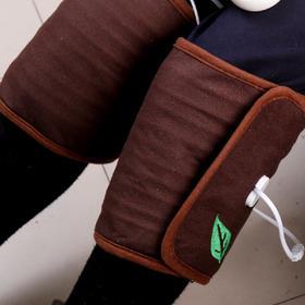 热敷护膝包两只装   左右腿温度9档可调。热敷电动加热。南阳艾绒。