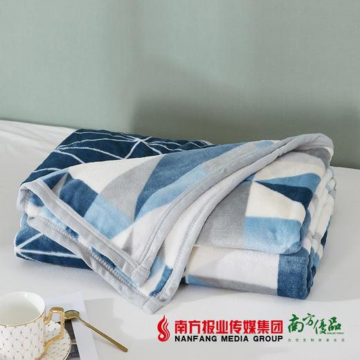【全国包邮】梦洁美颂克莱格双面暖暖绒毯 商品图3