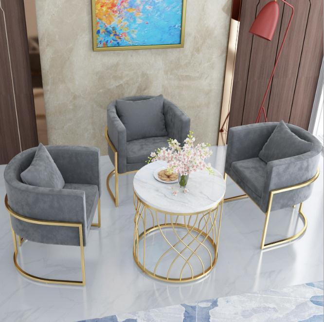 *现代单人沙发椅网红ins美甲服装店酒店大堂会客北欧布艺沙发简约 商品图2