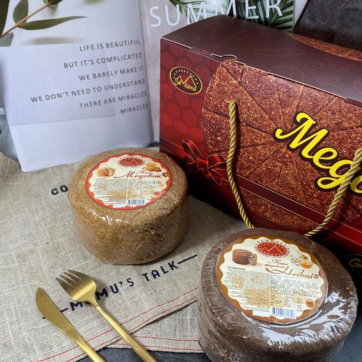 【进口版】俄罗斯进口版提拉米苏双山系列GKK蜂蜜奶油味多层蛋糕每个500g每个两种口味 商品图11