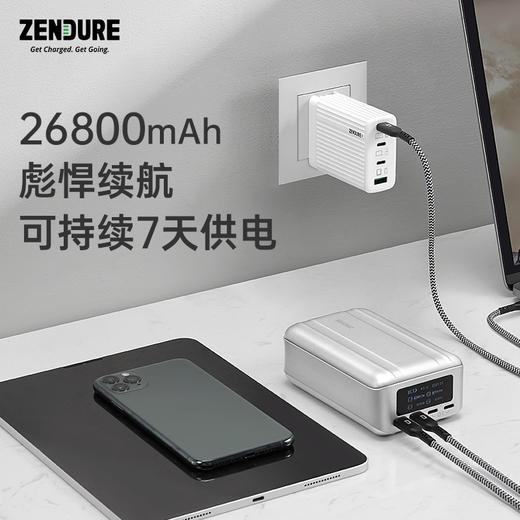 【可给两台笔记本同时充电】Zendure SuperTank Pro 26800mAh 充电宝  商品图1