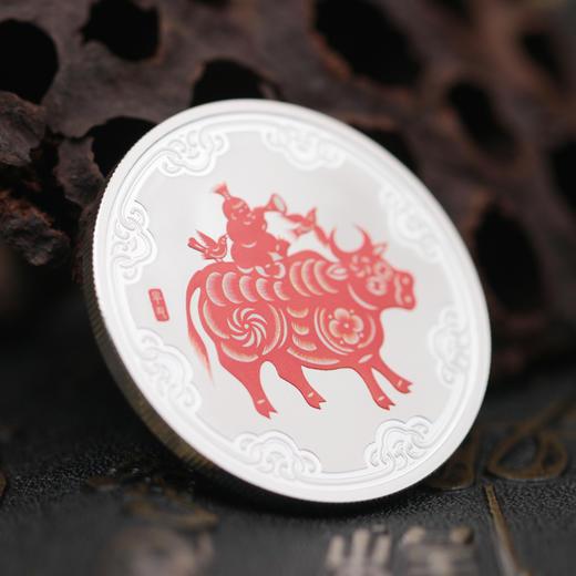 2021牛年生肖30克圆形银章 商品图1