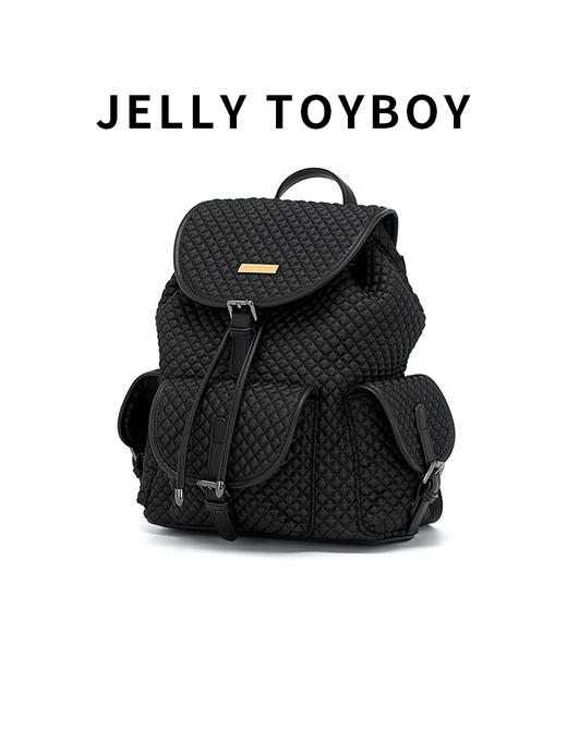 【徐杉专用】JTB包包女2020新款时尚百搭大容量格子双肩包菱格包旅游背包 商品图2