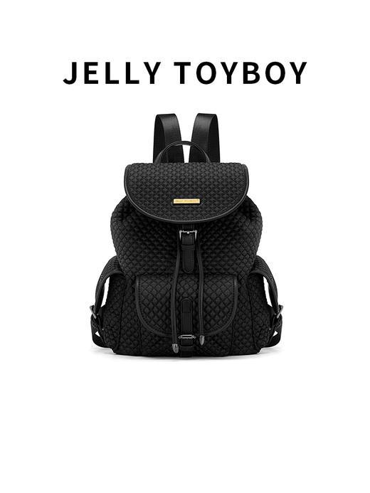 【徐杉专用】JTB包包女2020新款时尚百搭大容量格子双肩包菱格包旅游背包 商品图0