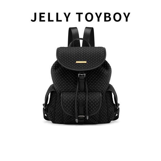 【徐杉专用】JTB包包女2020新款时尚百搭大容量格子双肩包菱格包旅游背包 商品图1
