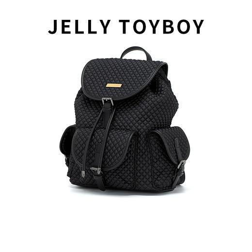 【徐杉专用】JTB包包女2020新款时尚百搭大容量格子双肩包菱格包旅游背包 商品图4