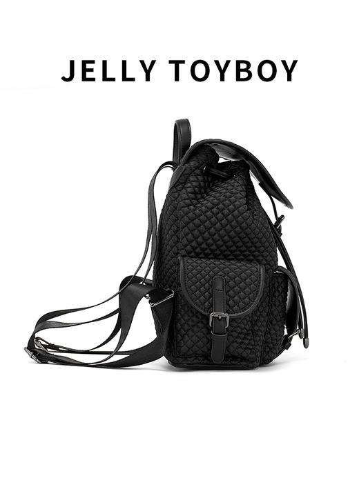 【徐杉专用】JTB包包女2020新款时尚百搭大容量格子双肩包菱格包旅游背包 商品图7