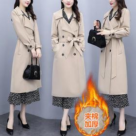 AHM-zmdm9395新款时尚洋气加厚夹棉中长款大衣外套TZF