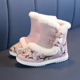 PDD-GDTTX201123新款儿童民族风优雅气质加绒绣花鞋TZF