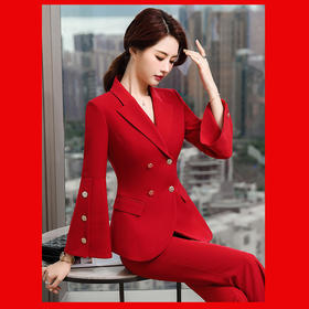 XZ-GY9218新款时尚气质修身女神范职业西服两件套TZF