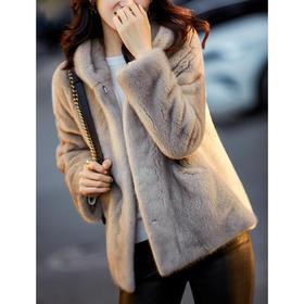 PDD-SQNZ201124新款时尚气质宽松连帽长袖仿水貂毛外套TZF