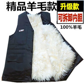 PDD-ZLNJP201124新款男士加厚保暖皮毛一体棉马甲TZF