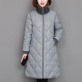 MQ-YX2023新款时尚优雅气质宽松立领长袖中长款加厚保暖外套TZF