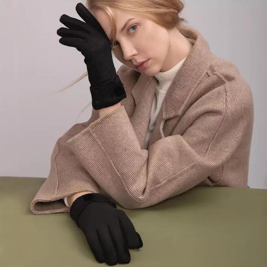暂停发货预售!【林志玲同款 真兔绒手套】50%阳离子兔绒,防风保暖自发热,灵活触屏设计不易起球。 商品图3