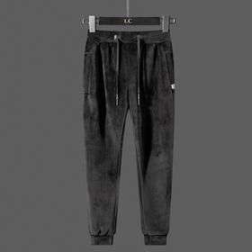 YCDZ-4016-1-K99新款男士时尚气质休闲宽松松紧腰加绒加厚保暖丝绒裤TZF