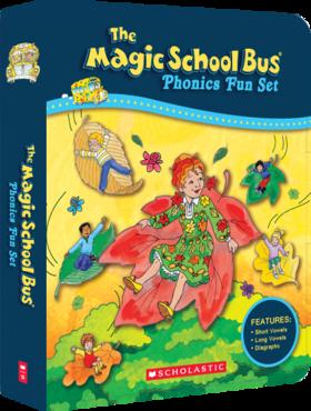 神奇校车自然拼读绘本套装(12册)The Magic School Bus Phonics Fun Set