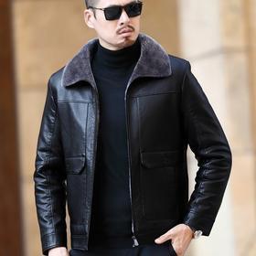 NQS8224新款时尚气质羊皮加绒加厚保暖皮毛一体夹克外套TZF